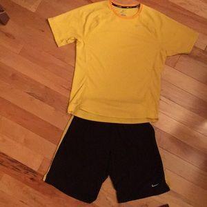 Men's Nike Dry Fit Shirt and Short Set