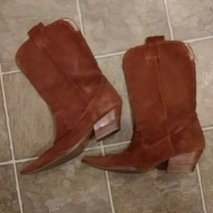 MICHAEL KORS brown leather western Boots 10