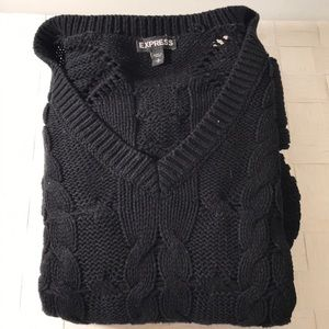 Express Black knitted sweater