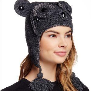 BCBGMAXAZRIA NWT Heidi Owl Hat