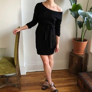French Connection Black Knit Sweater Dress