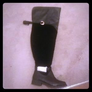 Thigh high boot wide calf.