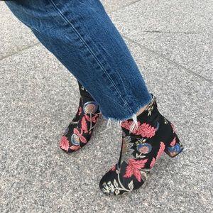 Zara Jacquard Heel Booties