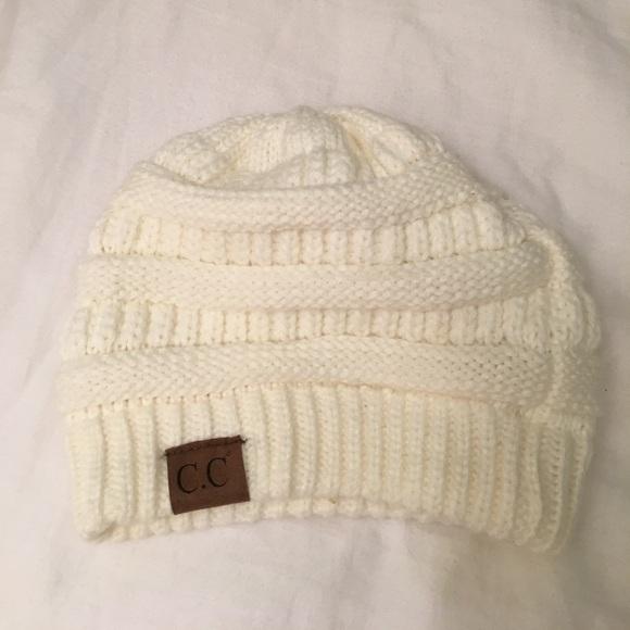 b95f0242e94 C.C Women s Thick Soft Knit Beanie Cap Hat Ivory