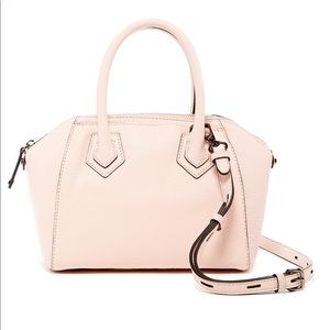 Rebecca Minkoff Micro Perry Satchel Bag Pale Blush