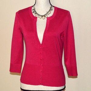 White House Black Market Pink Sweater Size M