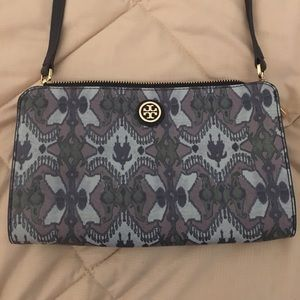 Rare Tory Burch Shoulder Bag with exotic print.