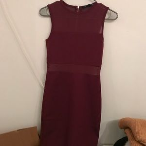 NWT French Connection Burgundy Christmas Mesh