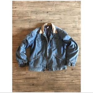 🐰80's VTG // Wranglers Flannel Lined Jean Jacket