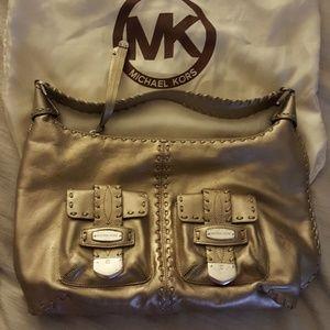 Authentic Michael Kors gold metallic