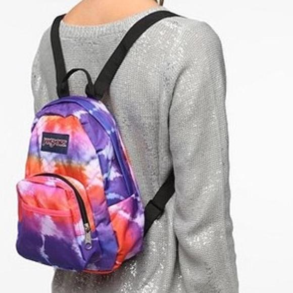 Jansport Handbags - Jansport Mini tie dye backpack pink purple orange 44a2b0595fe72