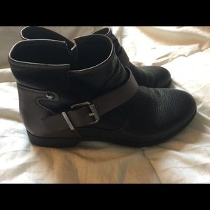 BCBGeneration Rough Ankle Strap Ankle Boots, Black