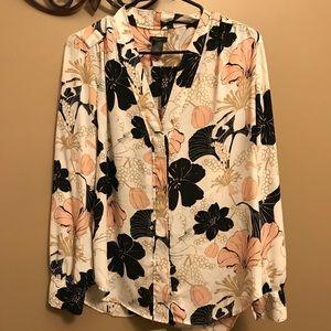 Ann Taylor Floral blouse