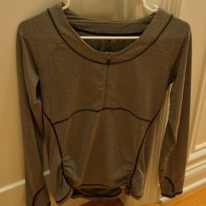 Athleta 3/4 Zip Long Sleeve Top