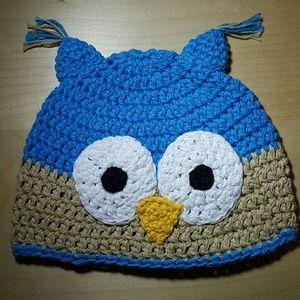 Other - Crochet children Hat, owl hat, toddler hat