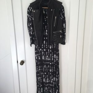 Cynthia Rowley Black & White Tie Die Knit Dress