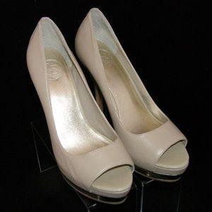Jessica Simpson 'Edith' peep leather platform 8B