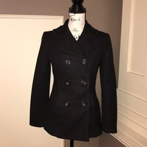 ❄️GAP black Double-Breasted Peacoat Size S ❄️