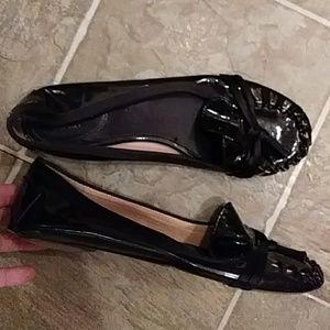 Woman's shiny black KATE SPADE flats Size 7