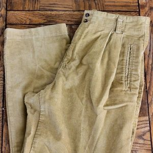 High Waisted Vintage Pleated Corduroy Pants