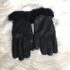 Leather Fox Fur gloves size L/XL