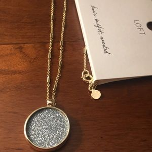 New LOFT Druzy Gold Necklace