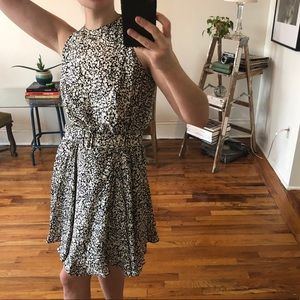 Vintage Silk Sleeveless Flared Mini Dress