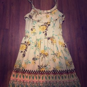 Floral and tribal print dress