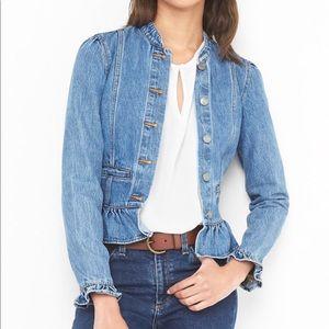 Gap Ruffle Blue Jean Jacket