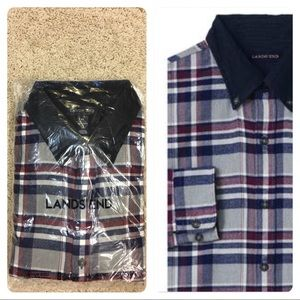 Traditional Fit Flagship Flannel Cord Collar Shirt