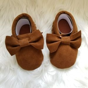 Other - Baby Girl Brown Suede Moccasins
