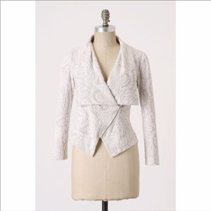 Moth Anthropologie paisley jacket coat s grey