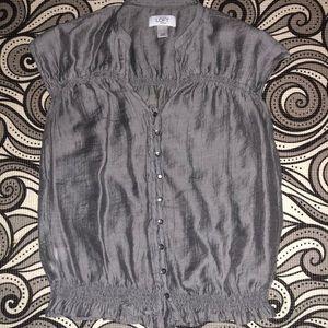 Ann Taylor XS grey blouse