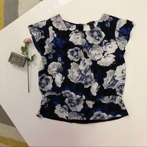 Ann Taylor floral cute blouse