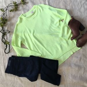 Jcrew Florescent Crewneck Sweater