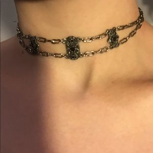 Elegant Silver Choker Necklace