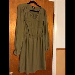 Silky Shirtdress, long sleeve, XXL
