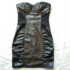 Forever 21 Faux Leather Mini Dress!