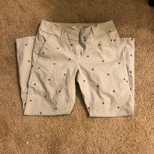 Simple print Loft pants