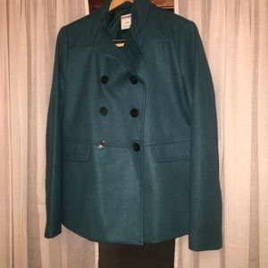 Old Navy Teal Women's Pea Coat NEW Large