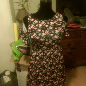 Justice off shoulder flower dress