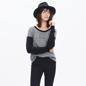 Madewell black and white pullover sweater