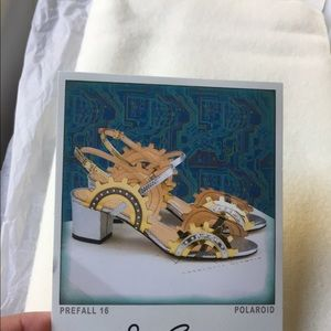 Charlotte Olympia Shoes - Amazing Charlotte Olympia Low Gear Metallic Heels!