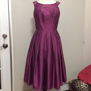 50's-Look Embellished Holiday Cocktail Party Dress