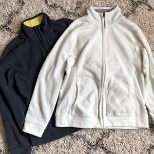 Pair of Fleece Full Zip Sweater