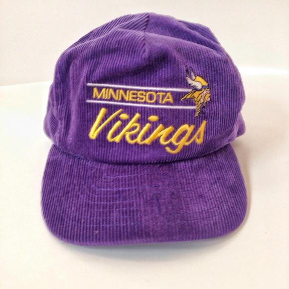 23925821fdac0f Vintage Accessories | Vtgnfl Minnesota Vikings Corduroy Hat | Poshmark