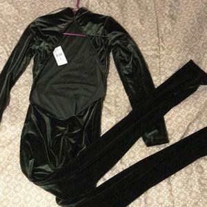 Olive green Fashion Nova Jumpsuit/Bodysuit