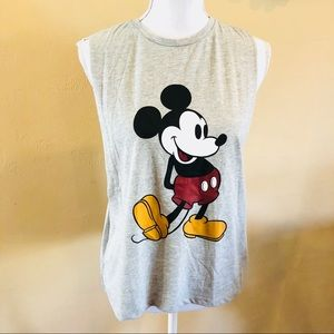 Topshop Cutout Side Top Mickey Mouse Disney