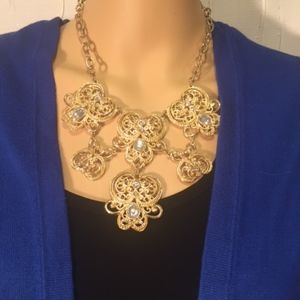 Gold Tone Costume Necklace