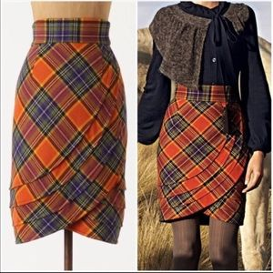 Tracy Reese Anthropologie plaid skirt 2